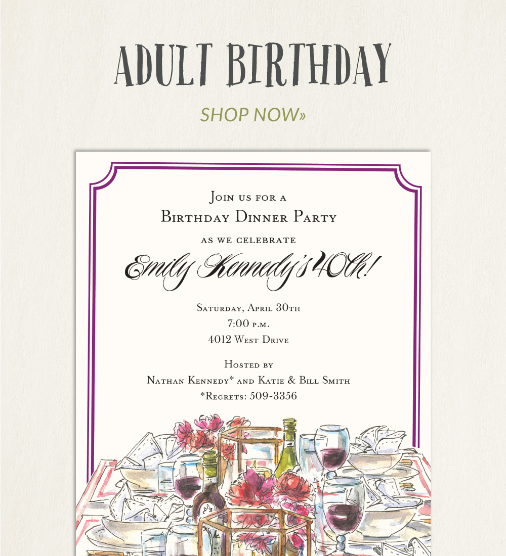 Birthday Party Invitations PrintsWell – Birthday Dinner Party Invitations