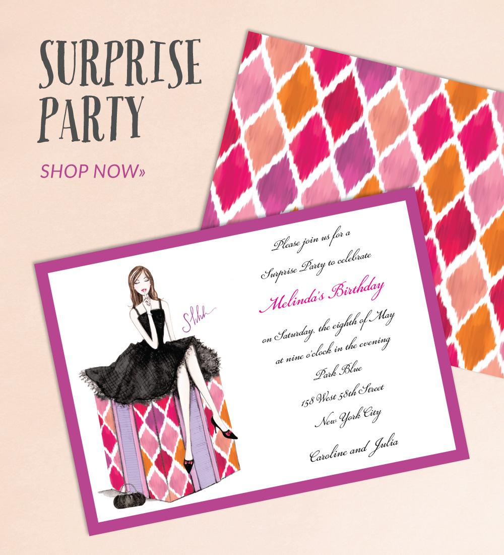 Birthday Party Invitations PrintsWell – New York Party Invitations