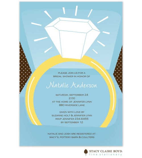ring in box engagement party invitations