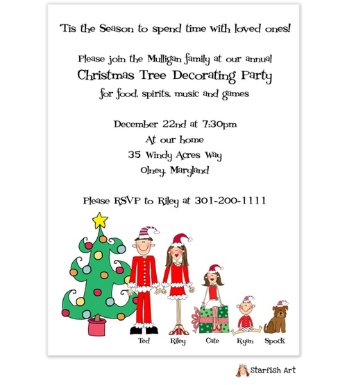 Christmas Family Party Invitations