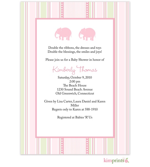 Twins And Triplets Baby Shower Invitations New Selections Summer 2018