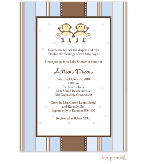 twin baby shower invitations- stroller